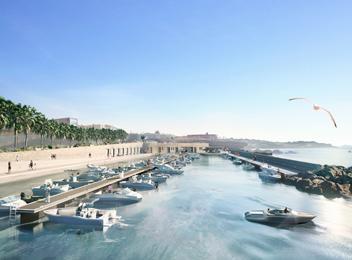 Port méditerranée - perspective d'ambiance