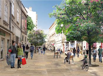 avignon - photomontage projet rue bonneterie ouest