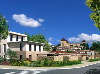 Domaine de Castias vue projet et chateau de Castries