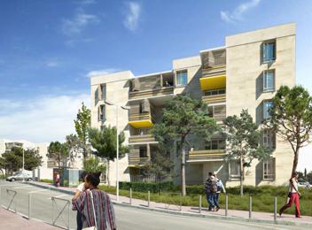 Réhabilitation Résidence CERES Montpellier perspective rue cardinal