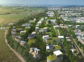 extension urbaine le Crès vue nord phase finale