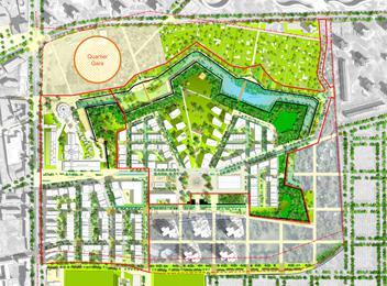 Ecoquartier du Fort d'Aubervilliers plan concept