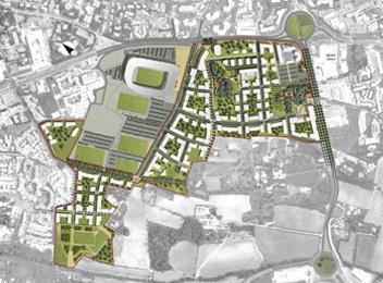 Quartier Ovalie Montpellier master plan