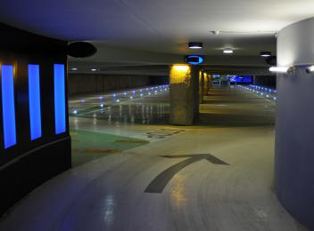 Jaurès Underground Parking Avignon rampe éclairage_Photo crédit Landecy