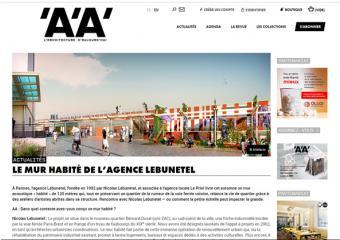 L'Architecture d'Aujourd'hui - Le Mur Habité - Nicolas Lebunetel