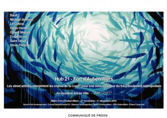 affiche hub 21 artcop21 - fort d'Aubervilliers