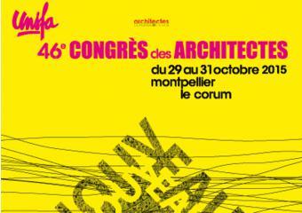 extrait affiche du 46e congres des architectes à Montpellier