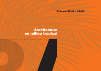 colloque international - architecture en milieu tropical