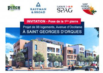 flyer invitation image pose 1ère pierre Zac Saint Georges d'Orques