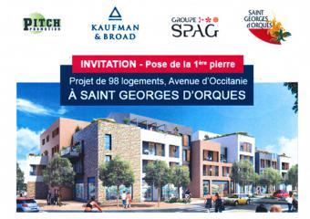 flyer invitation image pose 1ère pierre Zac Saint Georges d'Orques