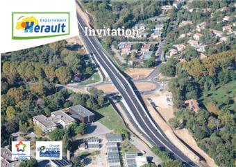 photo du carton invitation inauguration du giratoire RD65