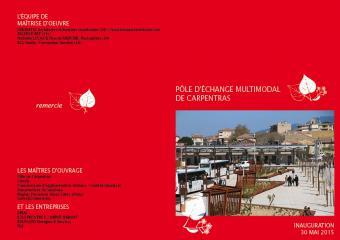 NL affiche inauguration Pôle d'Echange Multimodal à Carpentras