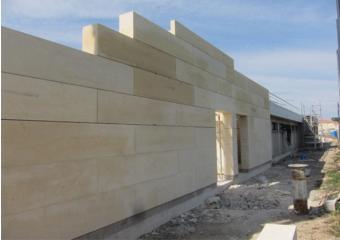 Mur en pierre de taille Pignan