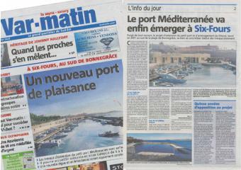 """Article du var matin """"un nouveau port de plaisance"""""""